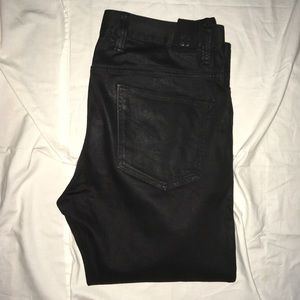 Insight black waxed denim jeans